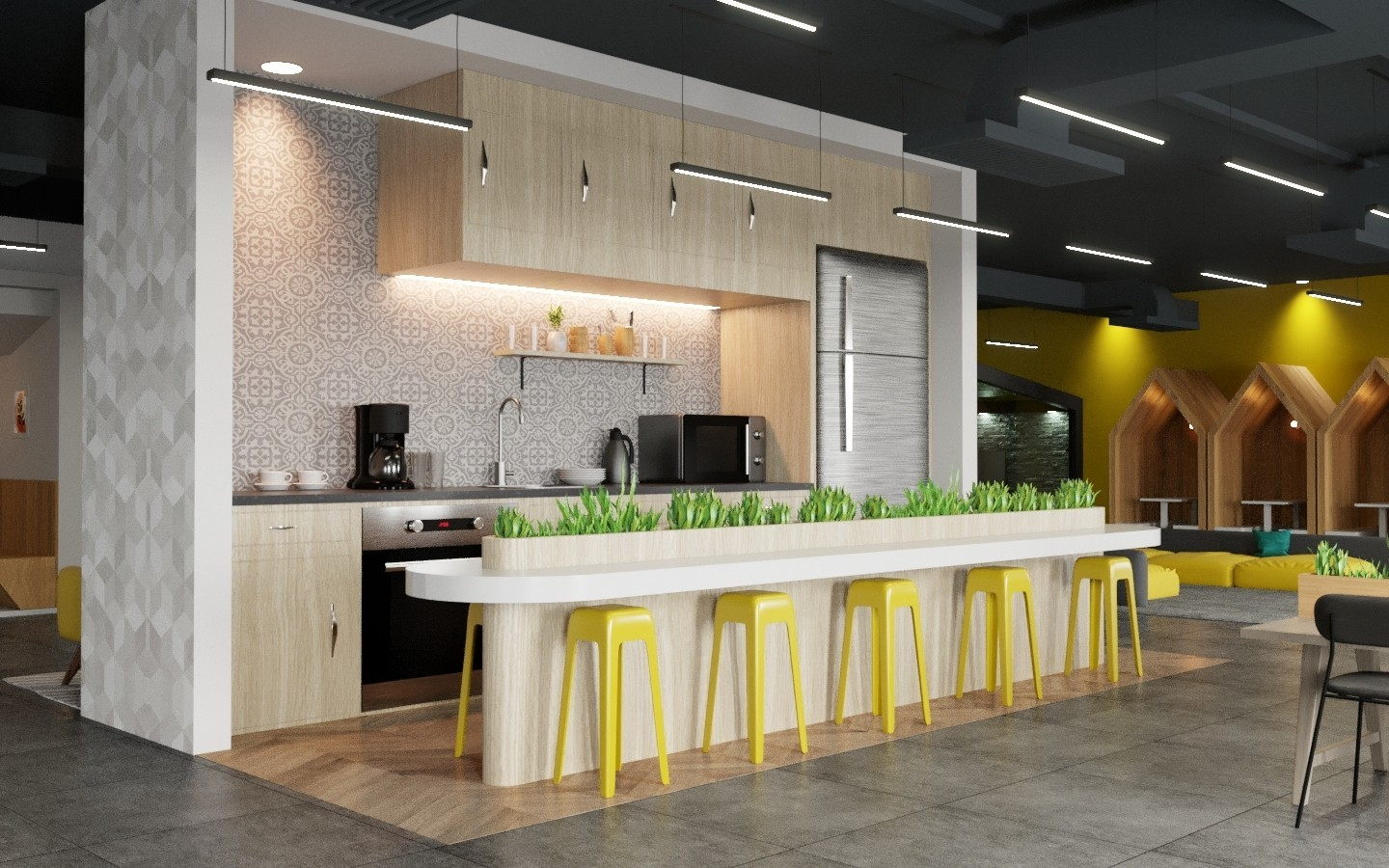 Purchase 3D Coworking Workspace Interior Design For A Low Price