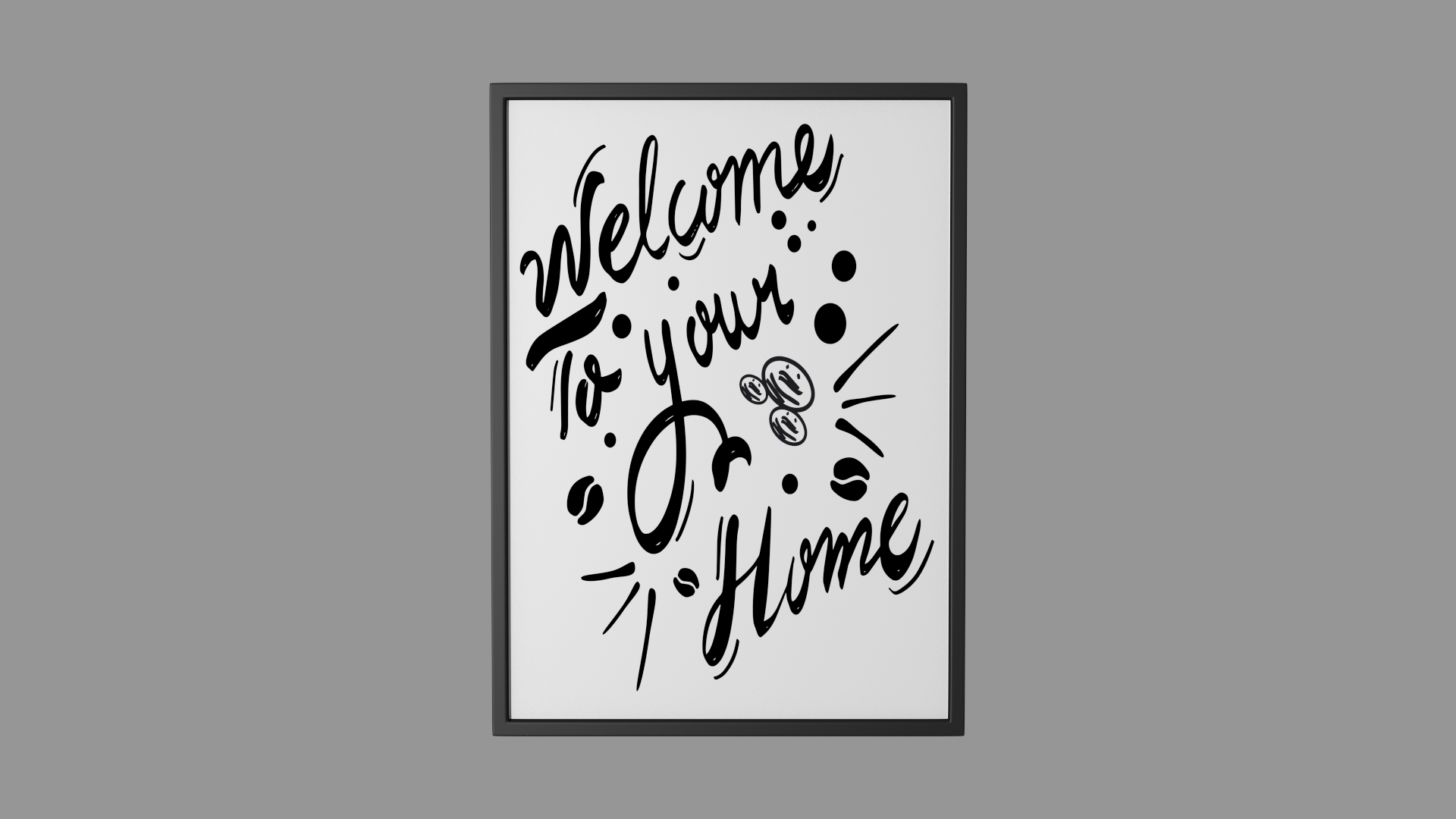 Free Handwritten Wall Graphic Welcome to your Home | FrogModel