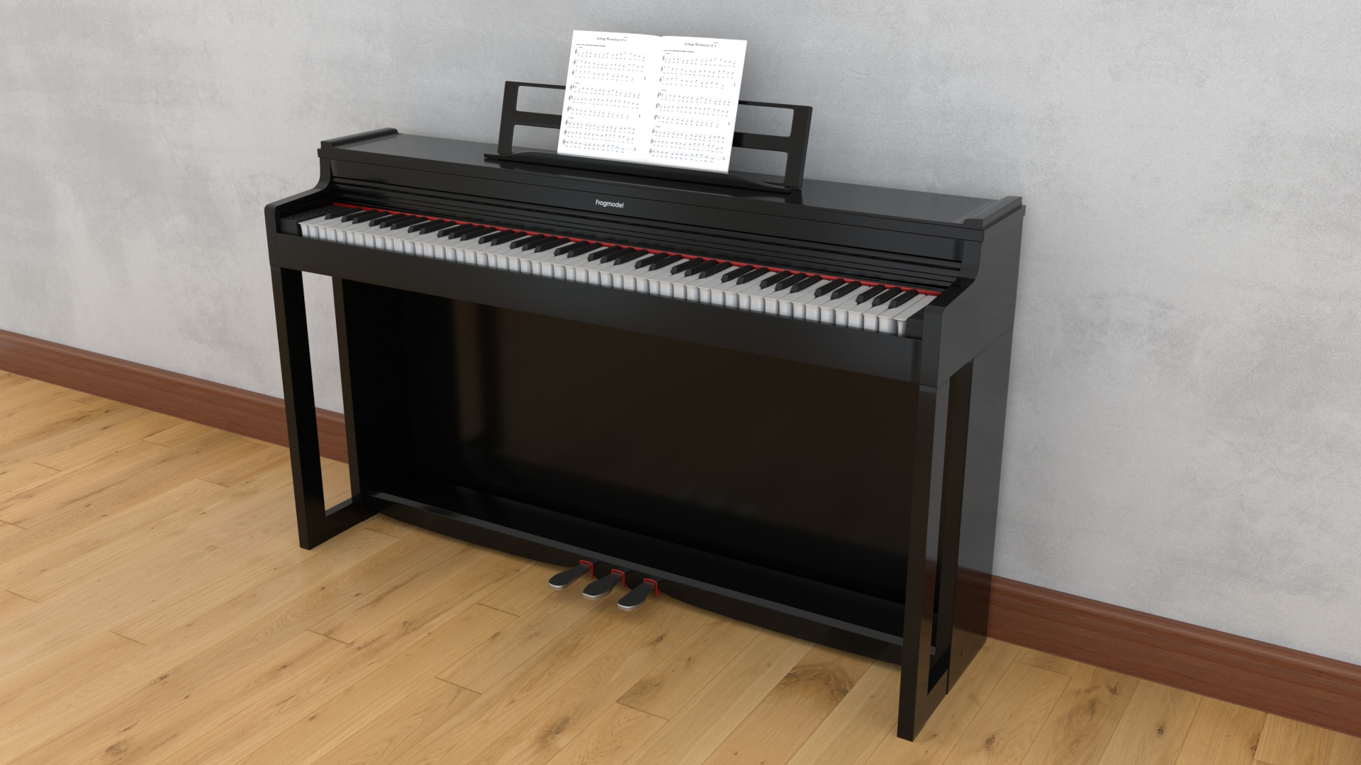 Realistic Free 3D Model Electric Piano Available for Download | FrogModel