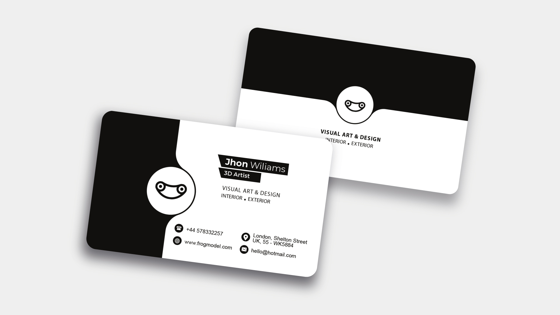 Black and White Business Card Templates & Design from FrogModel