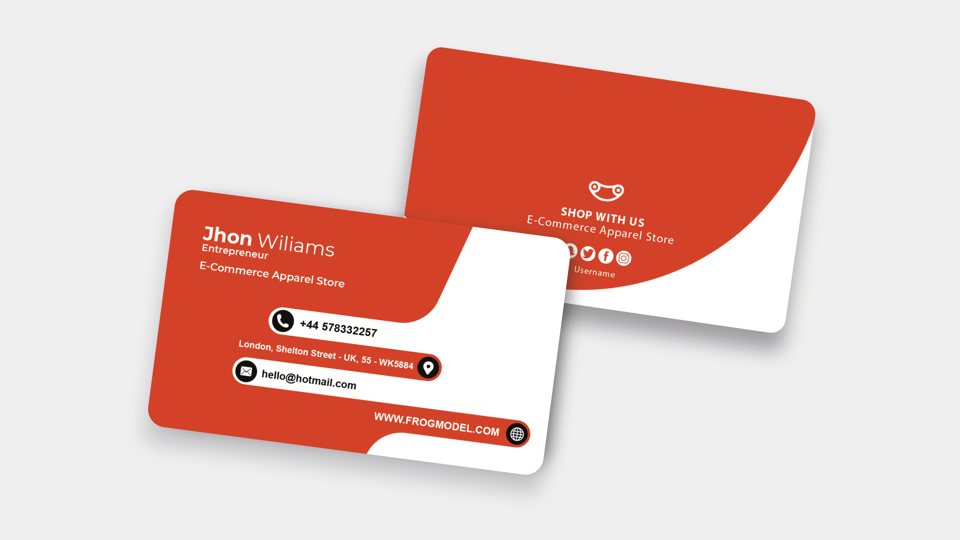 Orange Business Card Templates & Design from FrogModel