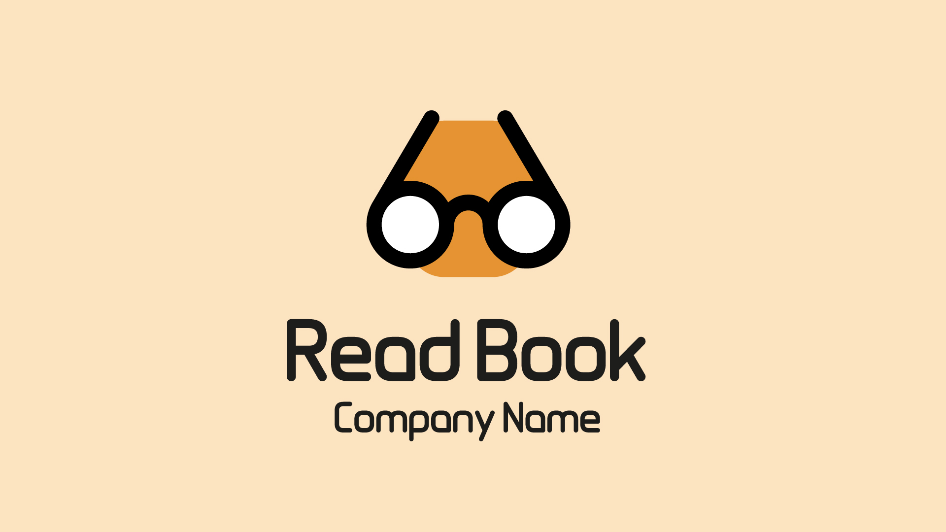 Read and Glasses Creative Logo Template for Reading | FrogModel