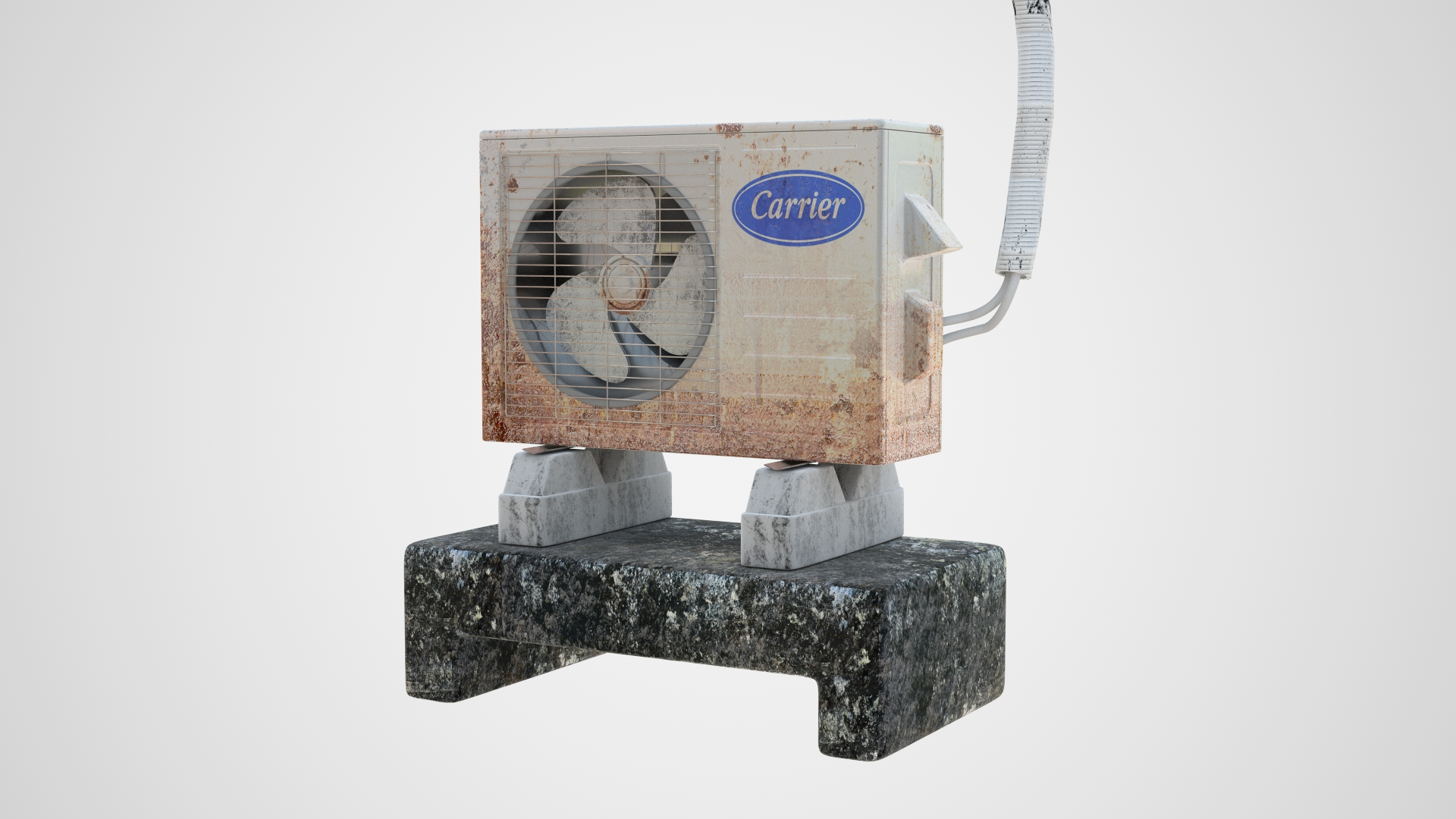 Realistic Dirty Air Conditioner 3D Model | FrogModel