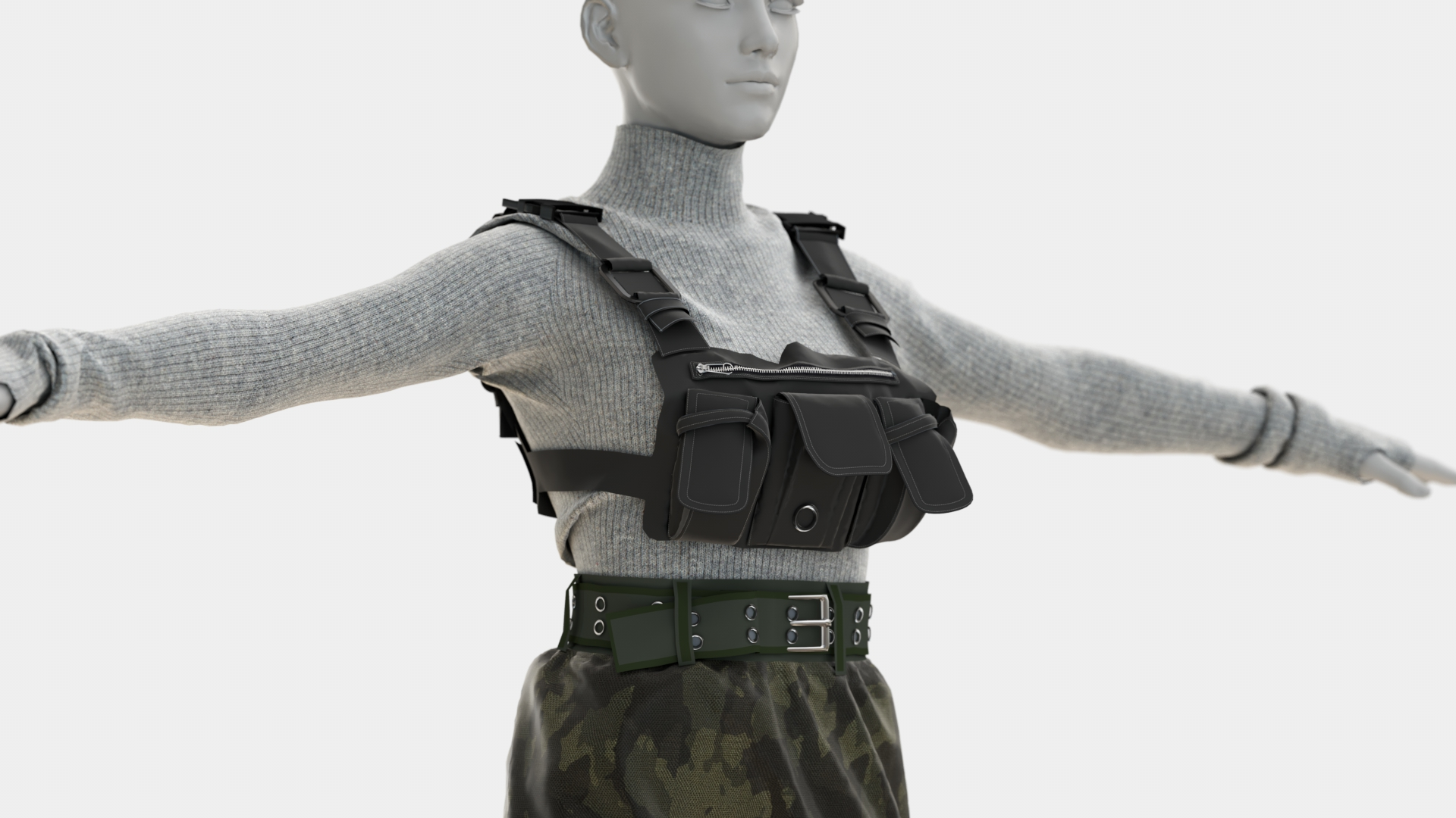 Female Military Suit clothing 3D Model | Frogmodel