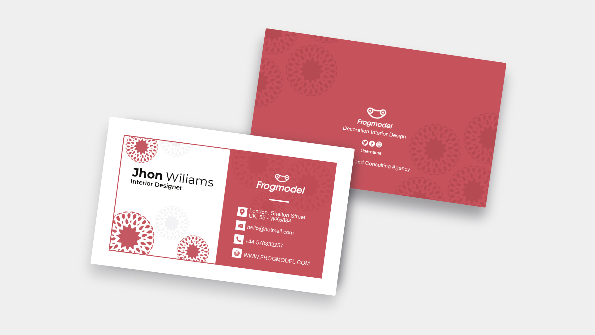 Red Business Card Templates & Design from FrogModel