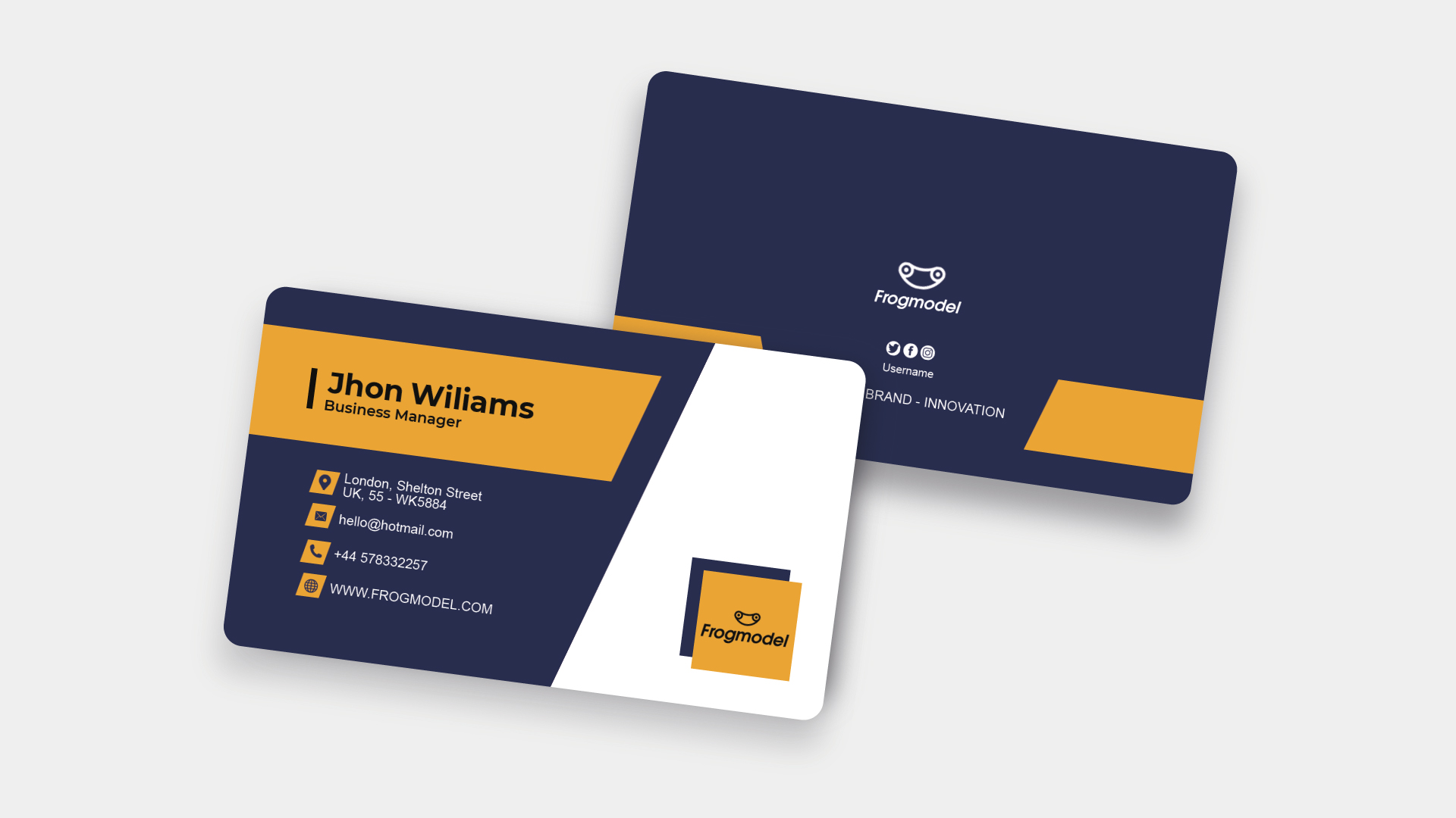Business Card Templates & Design from FrogModel