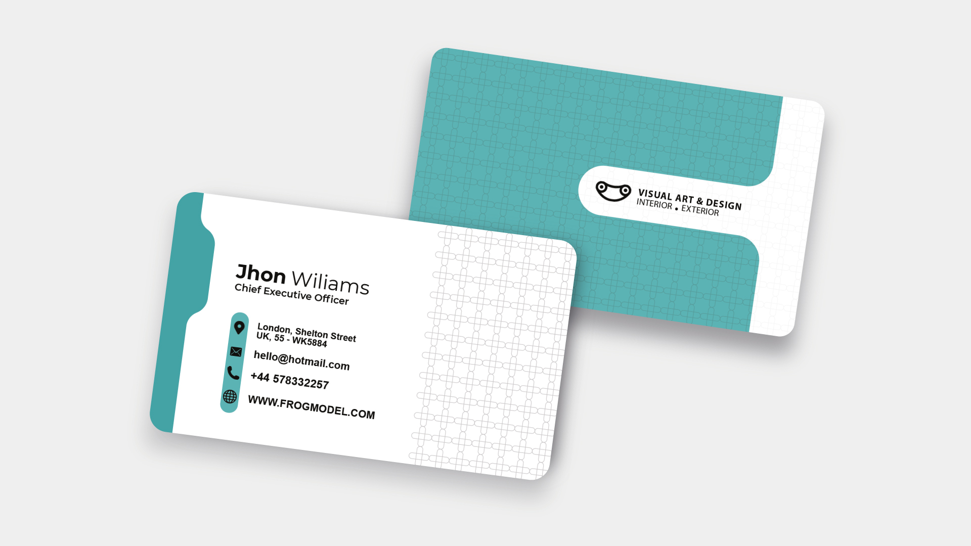 Light Green Business Card Templates & Design from FrogModel